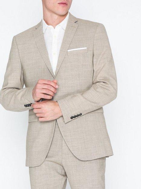 Selected Homme Slhslim Buffalooasis Sand Blazer B Blazere jakkesæt Lysebrun - herre