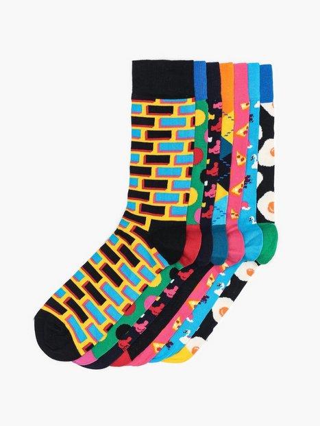 Happy Socks 7 Day Gift Box Strømper Mønstret - herre