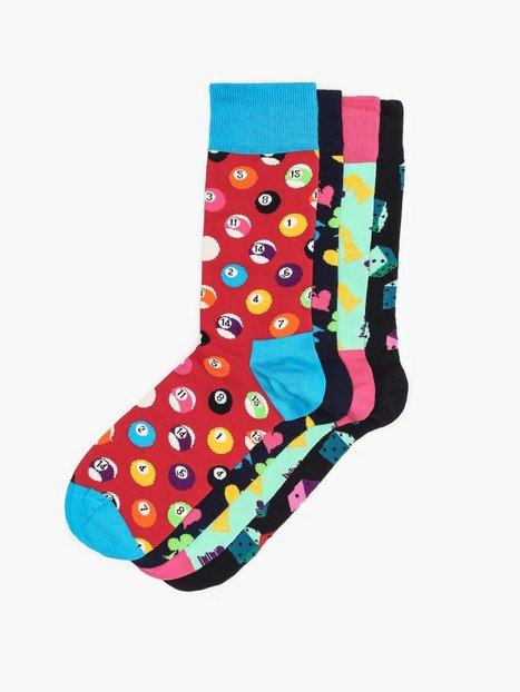 Happy Socks Game Night Gift Box Strømper Mønstret - herre