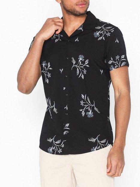 Premium by Jack Jones Jprgreg Resort Shirt S S Pre Skjorter Sort - herre