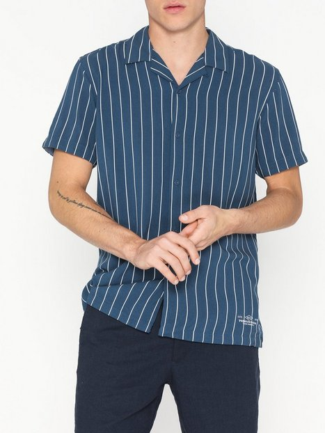 Premium by Jack Jones Jprayden Resort Shirt S S Skjorter Mørkeblå - herre