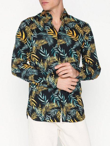 Selected Homme Slhslimsel Winston Shirt Ls Aop B Skjorter Mørkeblå - herre