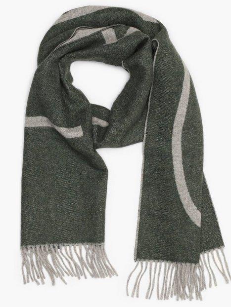 Gant D1. Logo Wool Scarf Halstørklæder scarves Green mænd køb billigt