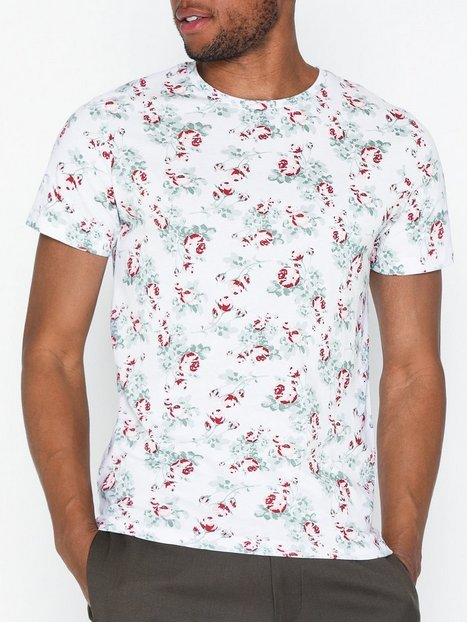 Premium by Jack Jones Jprnizzen Tee Ss Crew Neck Swe T shirts undertrøjer White - herre