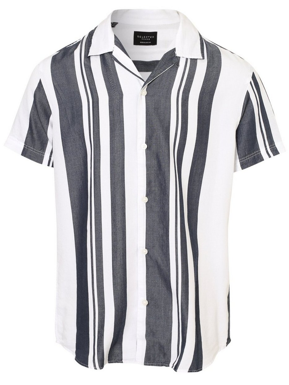 SLHREGKEVIN SHIRT SS STRIPES B