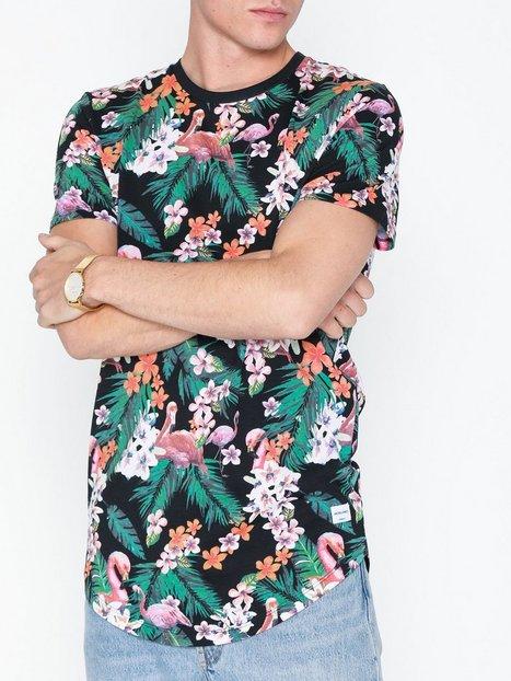 Jack Jones Jorbirds Tee Ss Crew Neck T shirts undertrøjer Sort mand køb billigt