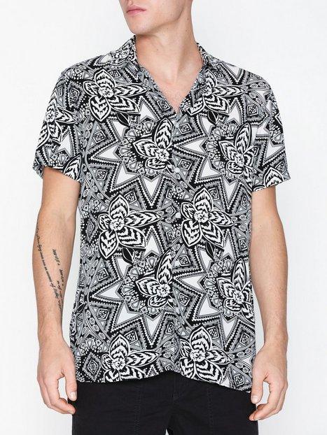 Selected Homme Slhregvega Shirt Ss Aop B Skjorter Hvid - herre