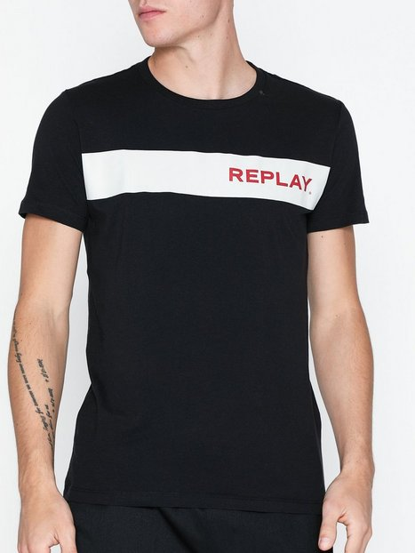 Replay T Shirt T shirts undertrøjer Sort - herre