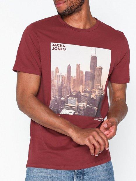 Jack Jones Joruptown Tee Ss Crew Neck T shirts undertrøjer Mørkerød - herre
