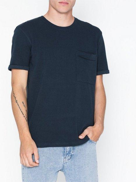 Selected Homme Slhper Ss O Neck Tee B T shirts undertrøjer Mørkeblå - herre