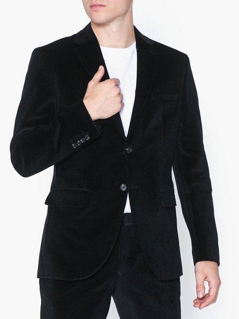Selected Homme Slhslim Mylolind Black Blz B Blazere jakkesæt Sort mand køb billigt
