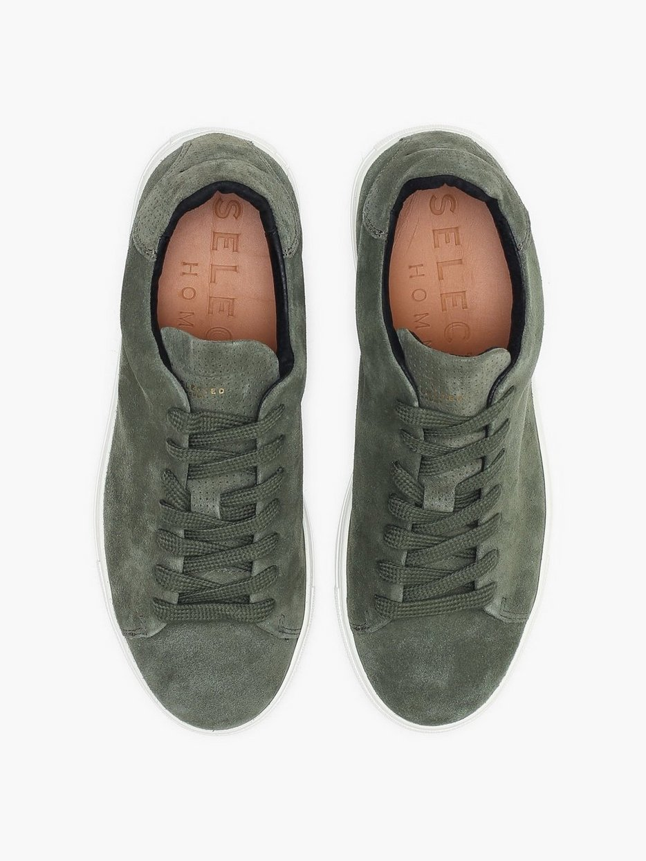SLHDAVID SUEDE PERFORATED TRAINER W