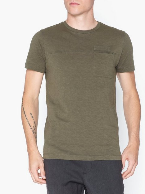 Selected Homme Slhutility Ss O Neck Tee W T shirts undertrøjer Grøn - herre