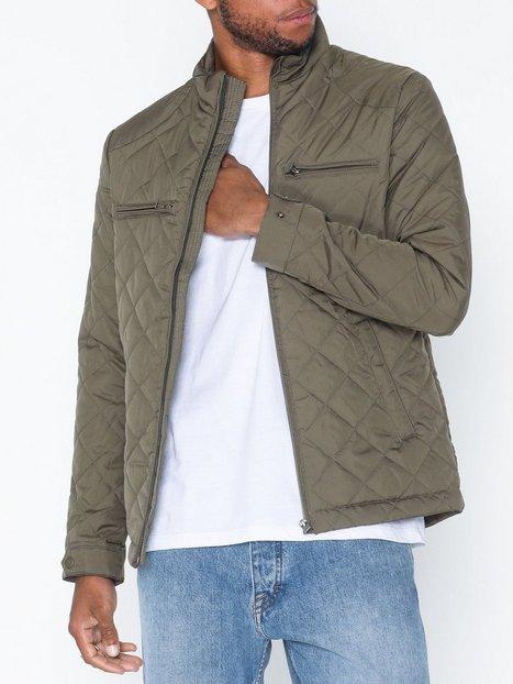 Selected Homme Slhjason Quilted Jacket W Blazere jakkesæt Mørkegrøn - herre