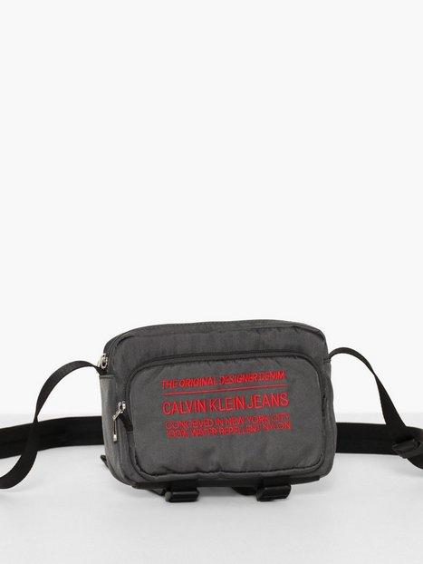 Calvin Klein Jeans Nylon Utility Utility Camera Bag Tasker Grå - herre