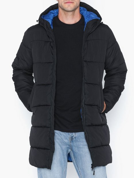 Jack Jones Jorknight Long Puffer Jacket Jakker frakker Sort - herre