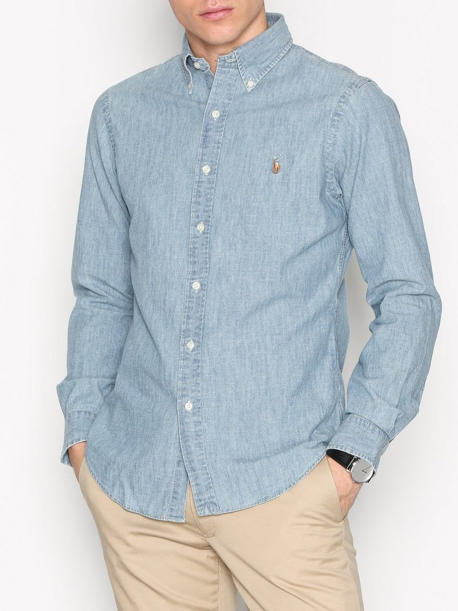 97233824e09f Slim Fit Chambray Shirt - Polo Ralph Lauren - Medium - Shirts (Men ...