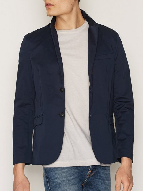 Whyred Moon Satin Strecth Blazers jakkesæt Dress Blue mand køb billigt