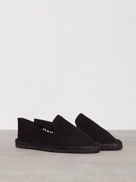 OAS Espadrilles Loafers slippers Black On Black mand køb billigt