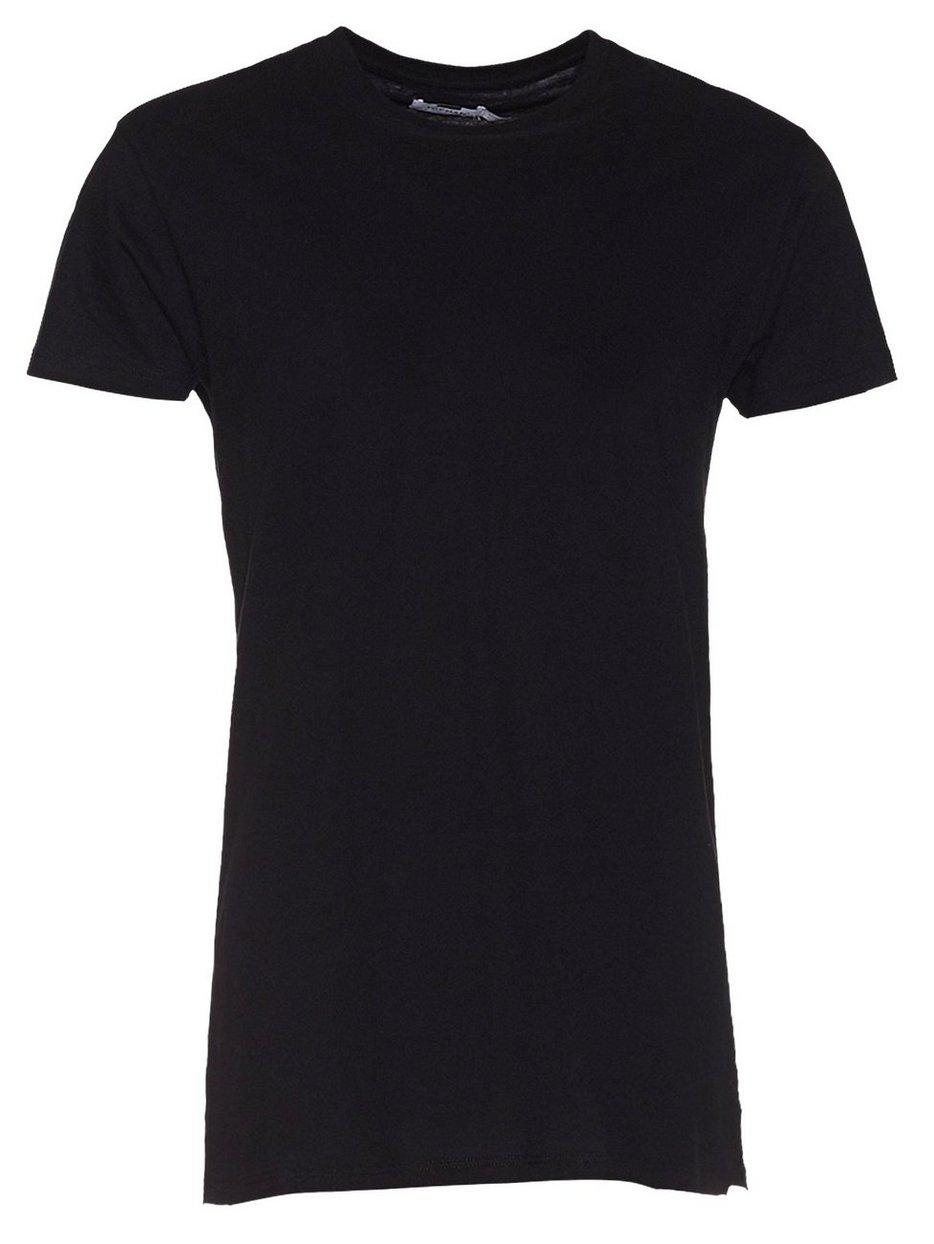 Black t shirt topman - Black Muscle Fit Longline T Shirt