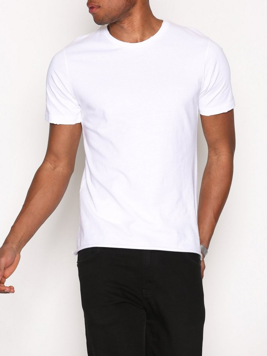 White t shirt effect - White Nibble Effect T Shirt