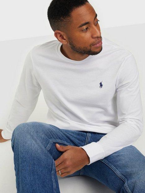 Polo Ralph Lauren Long Sleeve T shirt Trøjer White - herre