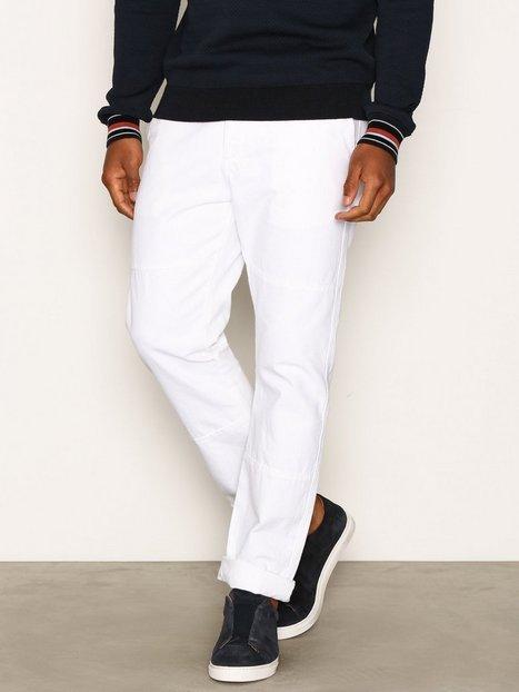 Topman White Panelled Standard Fit Chinos Bukser White mand køb billigt