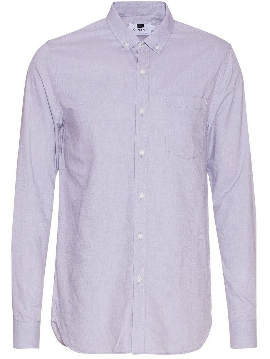 Grey Button Down Oxford Shirt - Topman - Grey - Shirts (Men ...