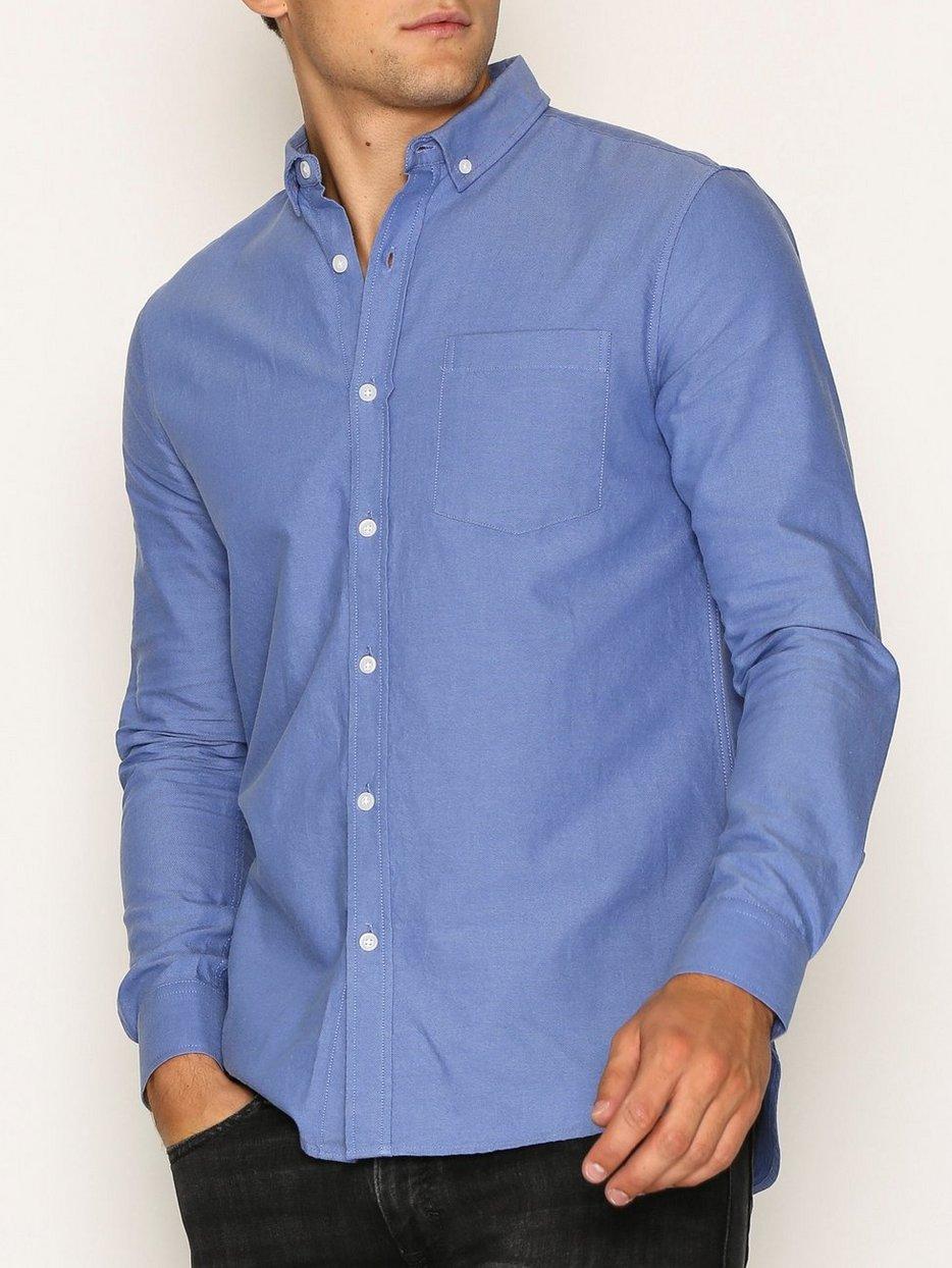 Dark Blue Button Down Oxford Shirt - Topman - Blue - Shirts (Men ...