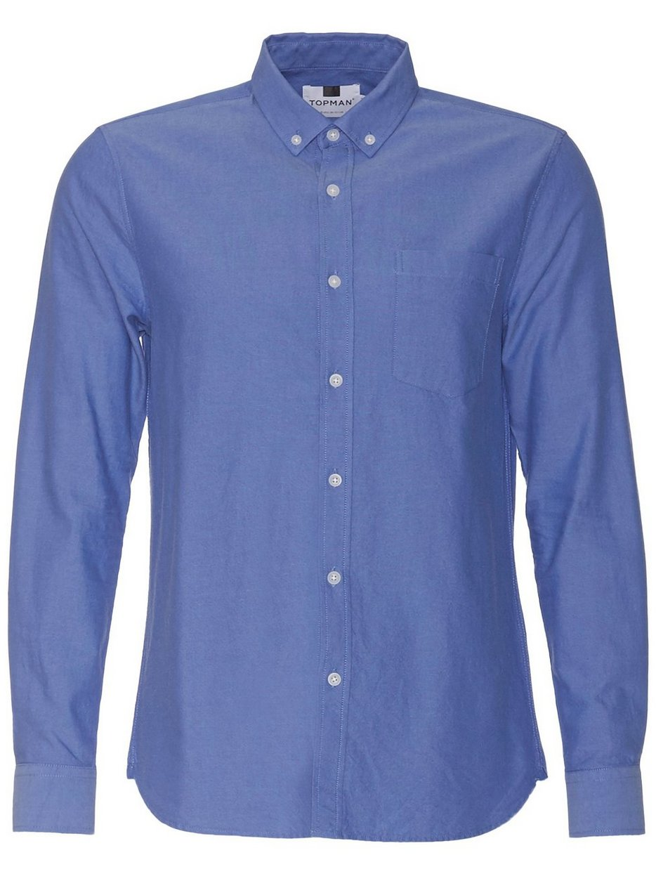 Dark Blue Button Down Oxford Shirt - Topman - Blue - Shirts (Men ...