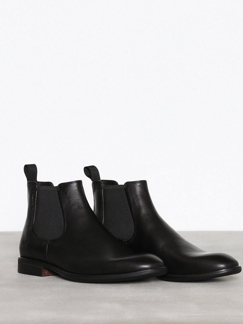 Harvey Vagabond Black Chelsea Boots Shoes Men
