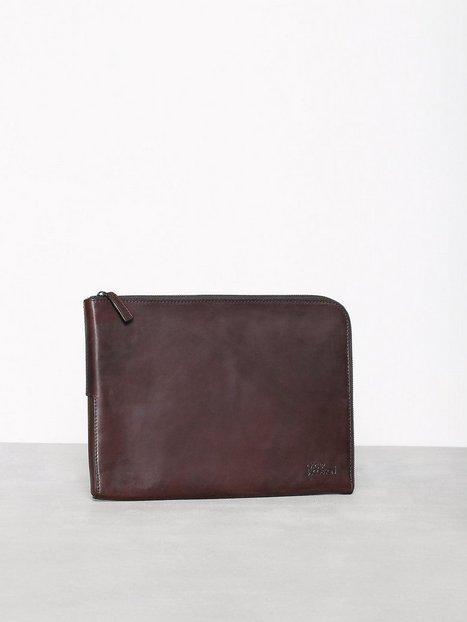 Oscar Jacobson OJ Bag Male Tasker Dark Brown mænd køb billigt