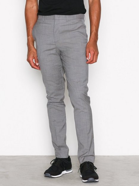 Topman Grey Marl Muscle Fit Suit Trousers Bukser Grey mand køb billigt