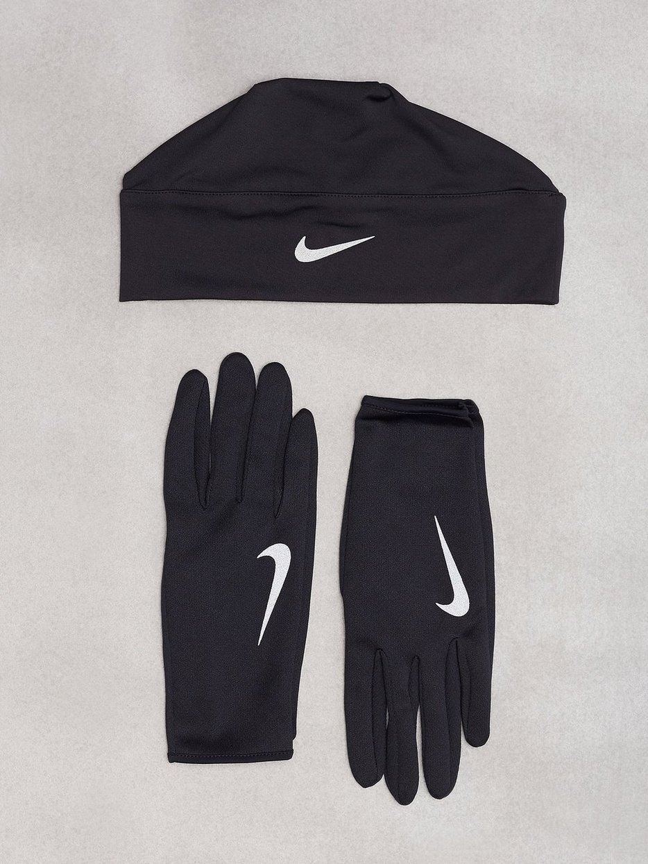 Run Dry Hat Glove Set - Nike - Black - Training Accessories - Sports ... 726758e00ff