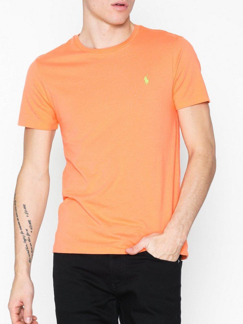 Jersey T Sleeve Ralph Polo Short Lauren Shirt Orange Danger UzVSpGqLM