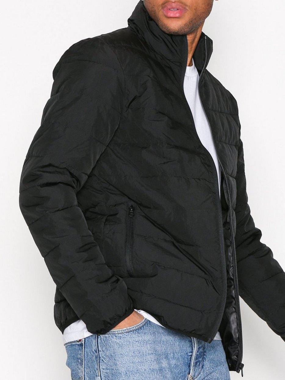 Black Quilted Jacket - Topman - Black - Jackets - Clothing - Men ... : black quilted jacket mens - Adamdwight.com