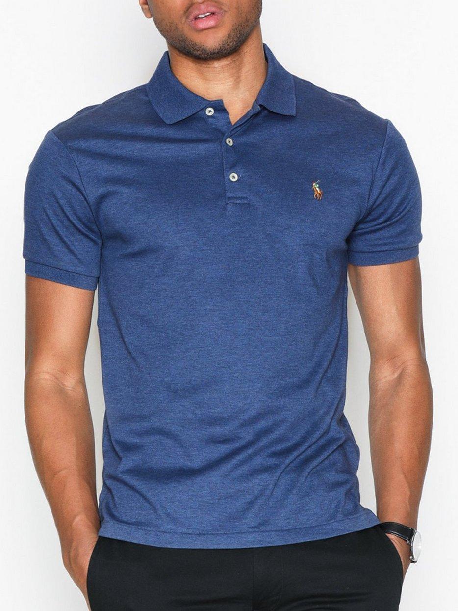 Short Sleeve Pima Polo Knit - Polo Ralph Lauren - Navy - Polo Shirts ... 85770deb1322