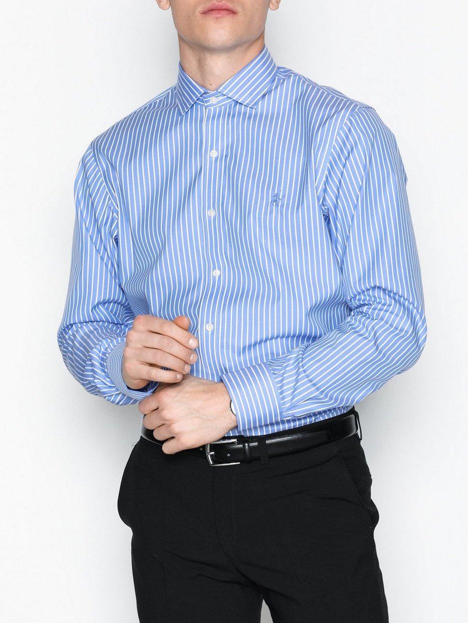 Poplin Dress Shirt Polo Ralph Lauren Bluewhite Shirts Men