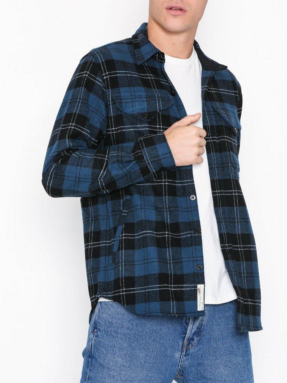 f6073211 Long Sleeve Sport Shirt - Polo Ralph Lauren - Blue/Black - Shirts ...