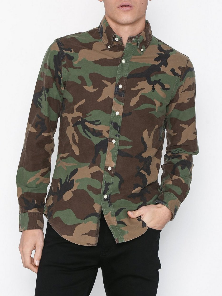 f0eb50cd Long Sleeve Sport Shirt - Polo Ralph Lauren - Camo - Shirts (Men ...