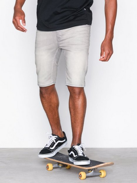 Topman Cloud Grey Stretch Skinny Shorts Shorts Grey - herre