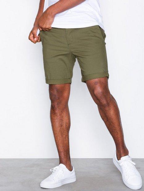 Topman Nav Kosta Ss Chino Shorts Khaki - herre