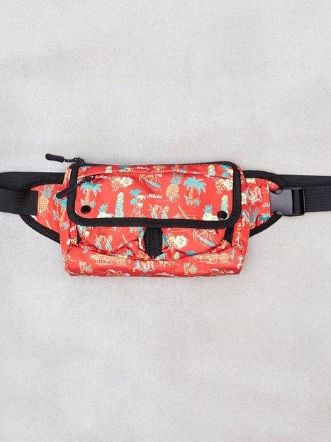 Topman Red Hawaiian Printed Cross Body Bag Tasker Red mand køb billigt