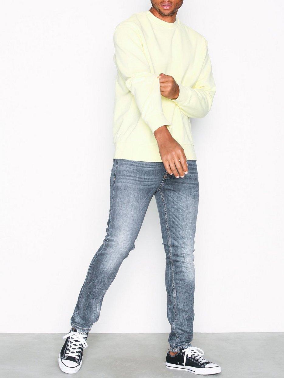 Grey Stretch Skinny Jeans