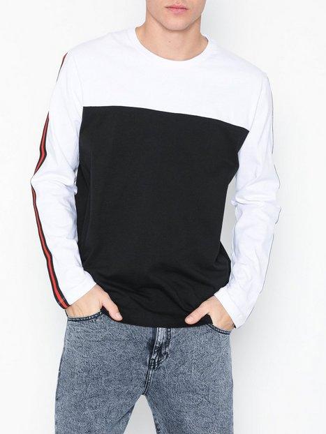 Topman White Skater Taping T Shirt Trøjer White mand køb billigt