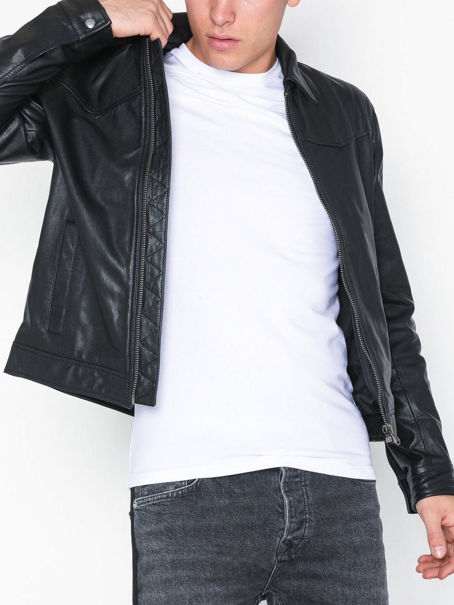 Leather Harrington Jacket