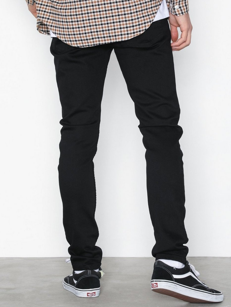 Black Double Ripped Stretch Skinny Jeans