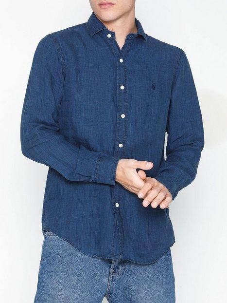 Polo Ralph Lauren Long Sleeve Sport Shirt Skjorter Indigo - herre