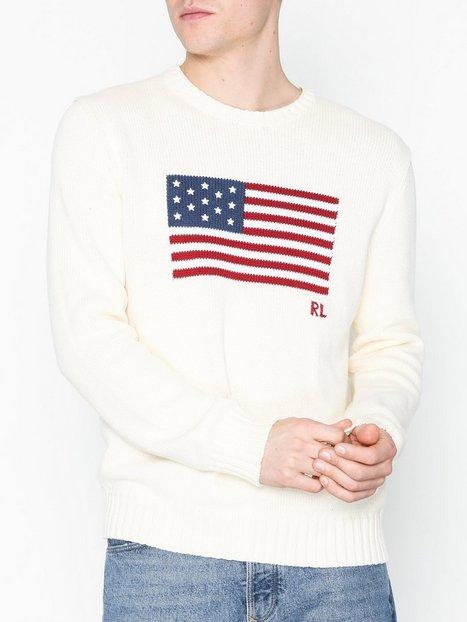 Polo Ralph Lauren Long Sleeve Sweater Trøjer Creme mand køb billigt