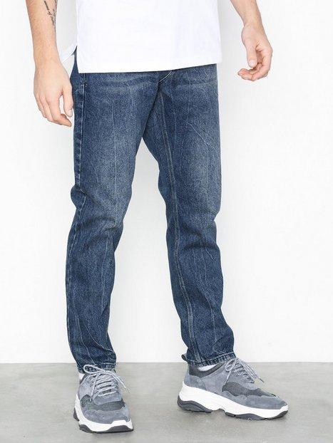 Topman Cupid Rigid Taper Jeans Dark Blue mand køb billigt